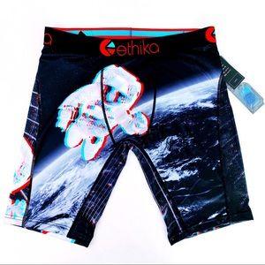 🆕 Ethika My Space 3D Astronaut Earth Boxer Briefs